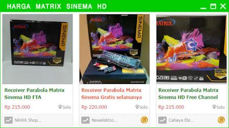 daftar Harga Matrix Sinema HD Untuk Buka Channel Berbayar
