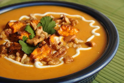 Slow Cooker Sassy Sweet Potato Chowder Recipe from Everyday Southwest found on SlowCookerFromScratch.com