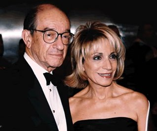 how did alan greenspan and andrea mitchell meet