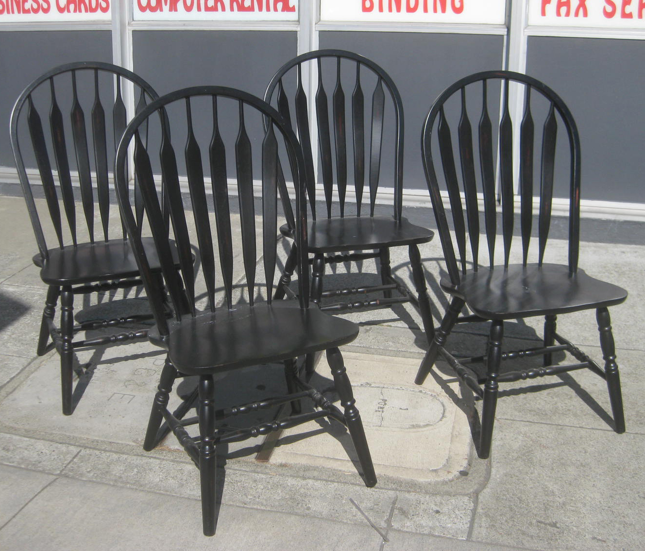 Black Windsor Chair Uhuru Furniture And Collectibles Sold Four Black Windsor