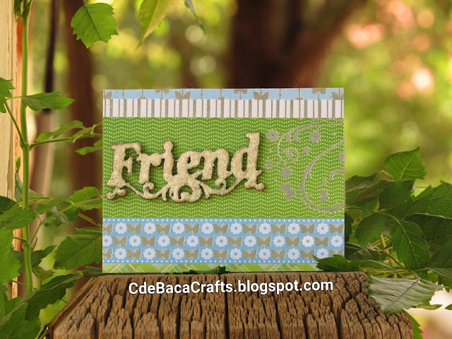 Cute Ideas for Friends Cards by CdeBaca Crafts Blogger.