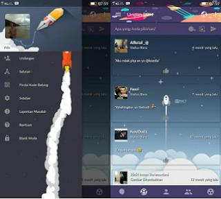Download BBM Mod Flat Rocket V3.2.5.12 Apk Terbaru