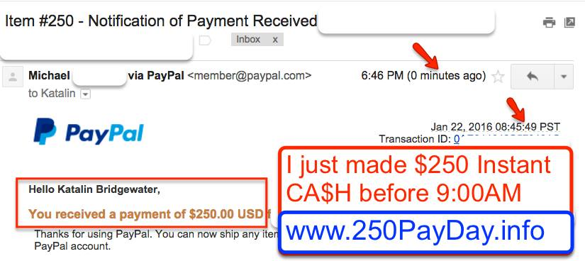 how to use paypal money instantly