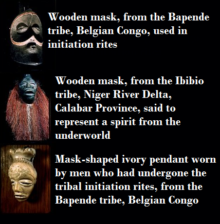 African masks typically have a spiritual significance