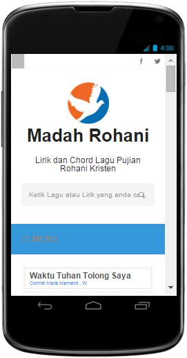 Tampilan Android Blog Madah Rohani