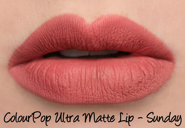 ColourPop Ultra Matte Lip - Sunday Swatches & Review