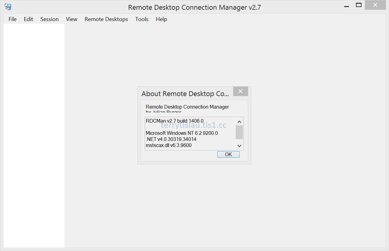 Terry L@u's blog: Remote Desktop Connection Manager 2 7
