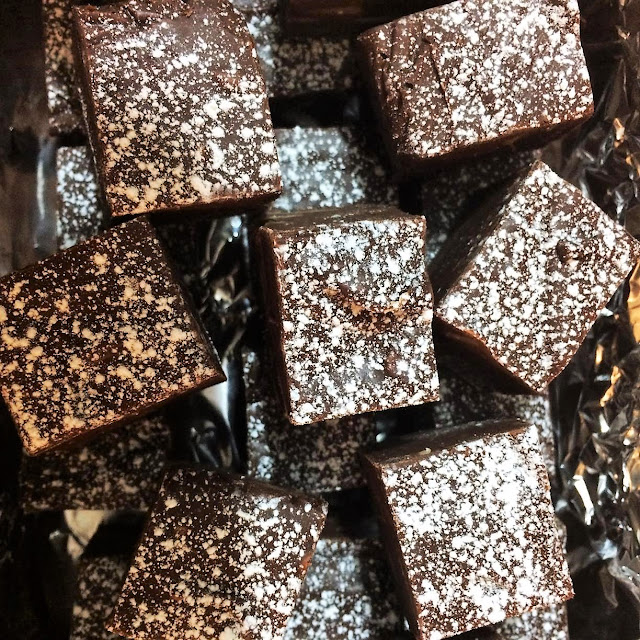 after dinner homemade chocolate fudge