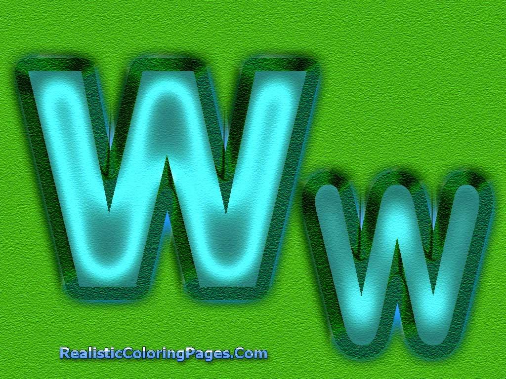 W Letters Alphabet Coloring Sheet