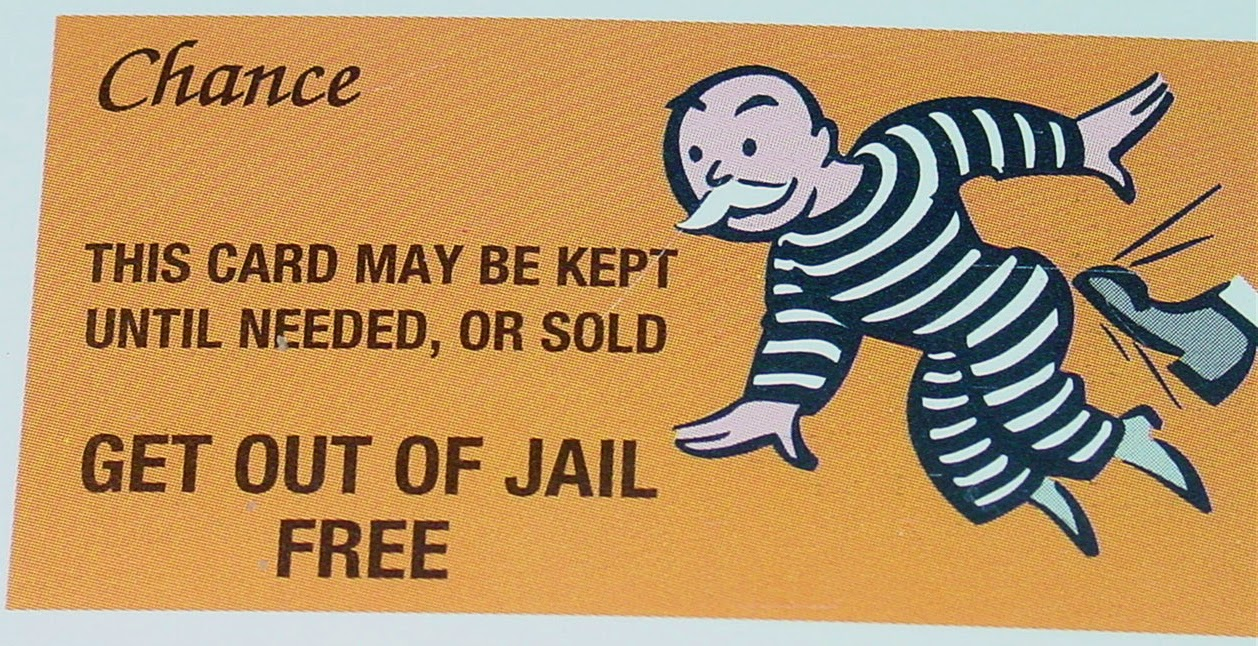 Pin print monopoly cards on pinterest for Get out of jail free card template