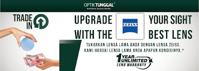 Upgrade Kaca Mata Anda di Optik Tunggal