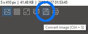 Merubah format file foto di ImageGlass