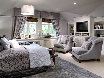 cuarto decorado con gris