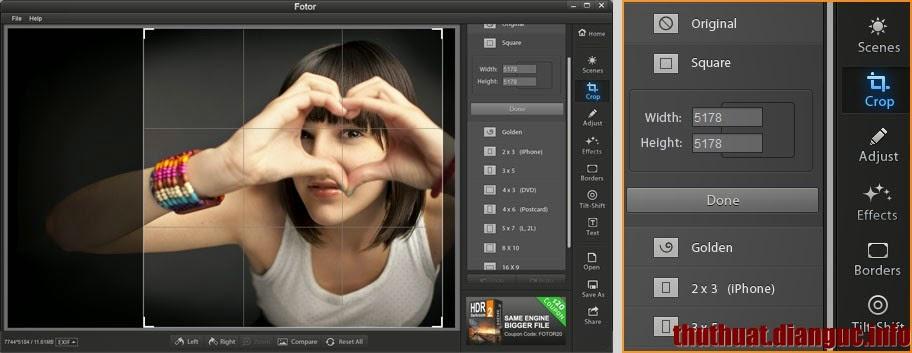 Phần mềm ghép ảnh đẹp, chỉnh sửa ảnh miễn phí tốt nhất Fotor