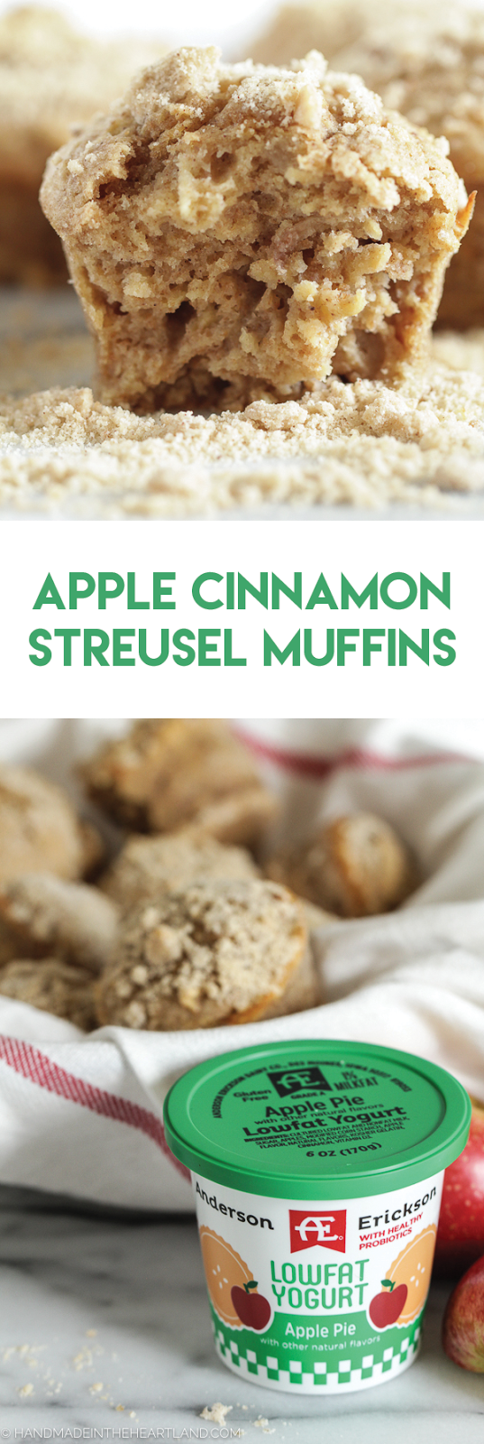 These apple cinnamon streusel muffins are the perfect fall breakfast muffin!