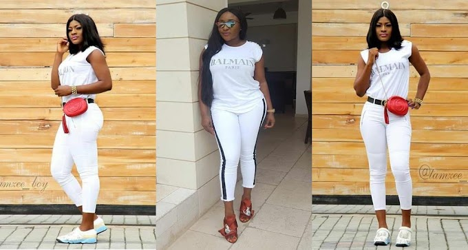 Battle of the N83k Balmain white Tshirt: Between  Alex And  Ini Edo