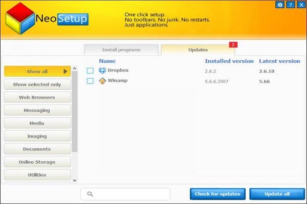 تحميل برنامج التحميل والتحديث 3.91.0.1 NeoSetup Updater