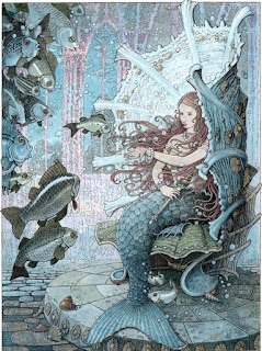 The Girl-Fish, ilustrado por Tomislav Tomic - The Folio Society - Andrew Lang