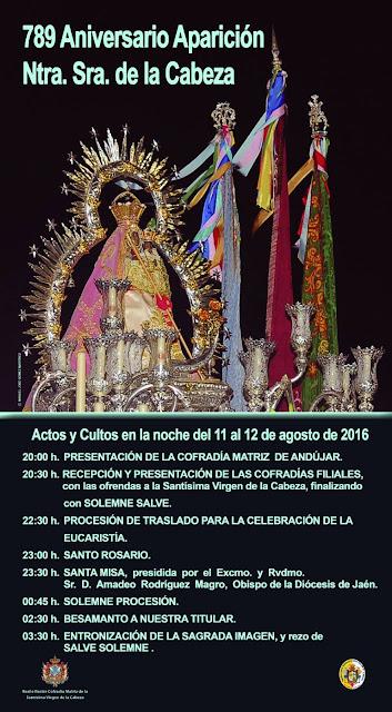 Actos y cultos Aparición Virgen de la Cabeza