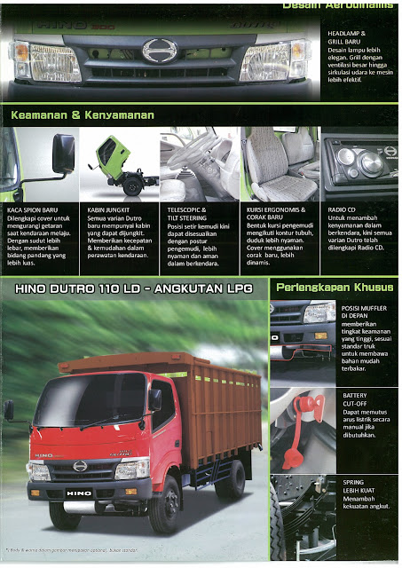 brosur truck hino dutro 110 ld lpg