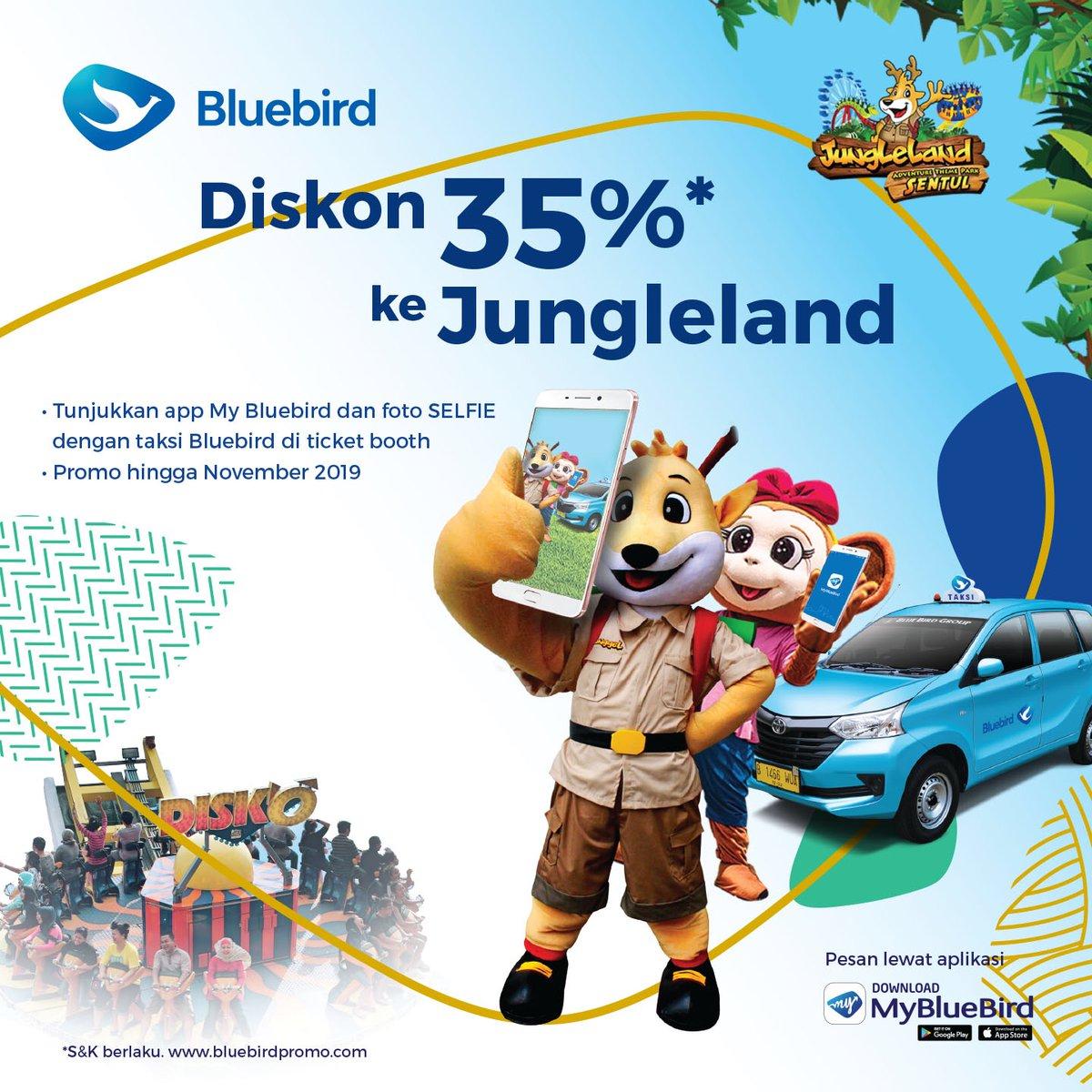 #Bluebird - #Promo Diskon 35% Tiket JungleLand Adventure Theme Park (s.d Nov 2019)