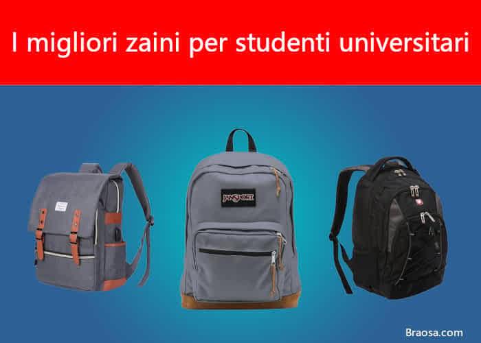 I migliori zaini per studenti universitari