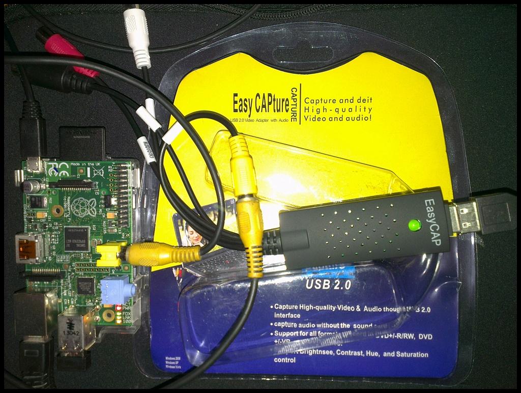 Hello Raspberry Pi: Capture Raspberry Pi RCA video output with USB