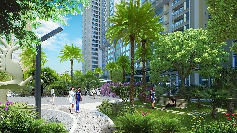 Không gian sống xanh của chung cư Bel Air Hà Nội