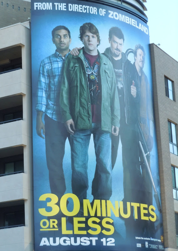 30 Minutes or Less movie billboard