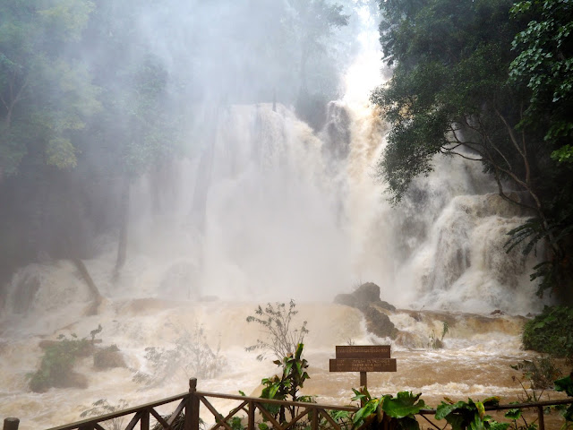 Kuang Si waterfall after a rainstorm near Luang Prabang, Laos