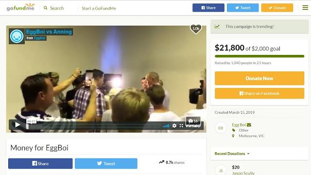 Remaja Pelempar Telur ke Senator Australia Dapat Donasi Rp300 Juta
