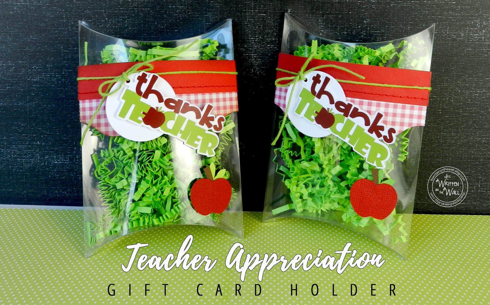 Teacher Appreciation Gift Card Holder-Pillow Box