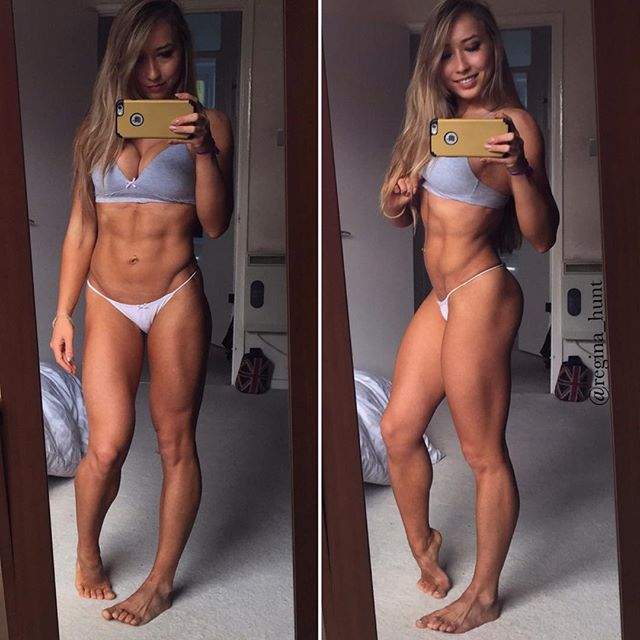 Fitness women GINA HUNT Instagram photos
