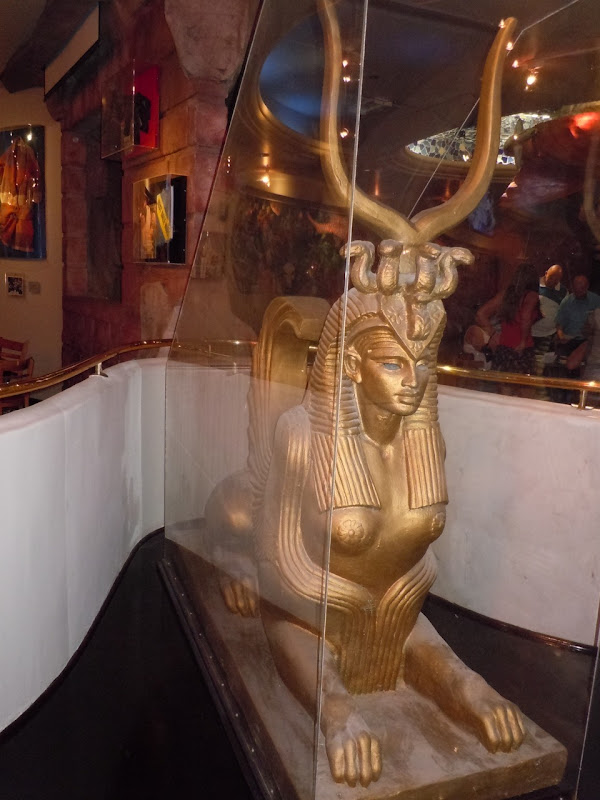Egyptian sphinx set prop Cleopatra