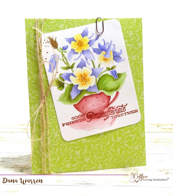 Dana Warren - Kraft Paper Stamps - Power Poppy