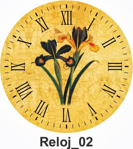 Todo en manualidades 10 l minas decoupage de relojes para - Laminas decorativas para pared ...