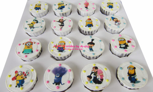 Birthday Cupcake Edible Image Despicable Me 2 Characters