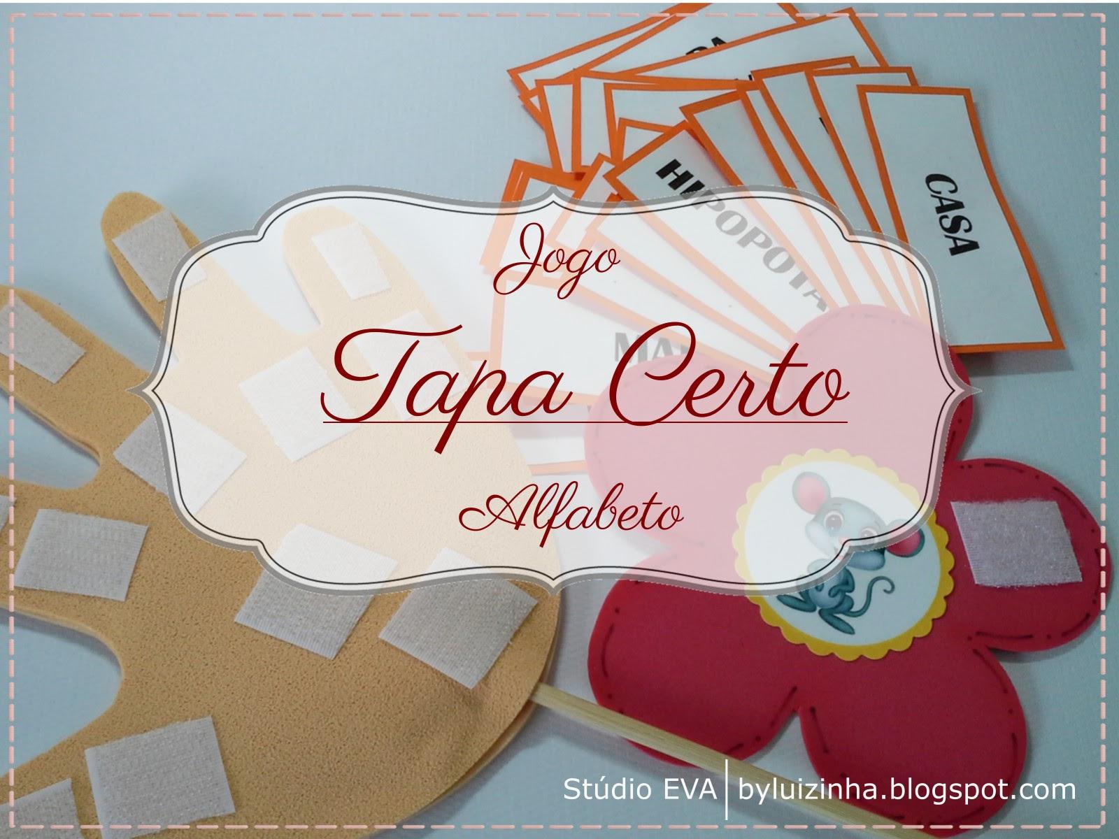Studio Eva Crafts Atividade Pedagogica Jogo Tapa Certo