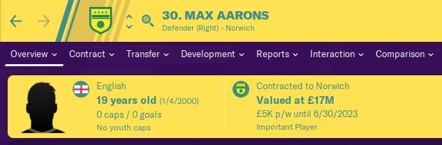 FM20 Wonderkids Analysis - Max Aarons