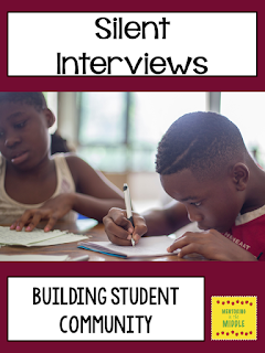 Silent interviews to build student community