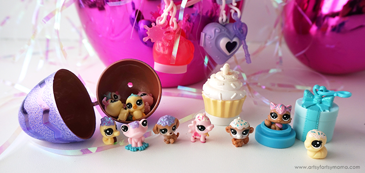 Put together a Littlest Pet Shop Frosting Frenzy Easter Basket