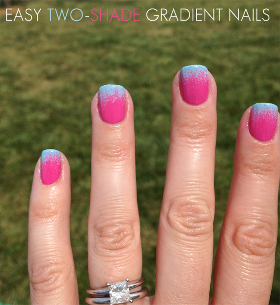 Easy Two-Tone Gradient Nail Tutorial // Bubby and Bean