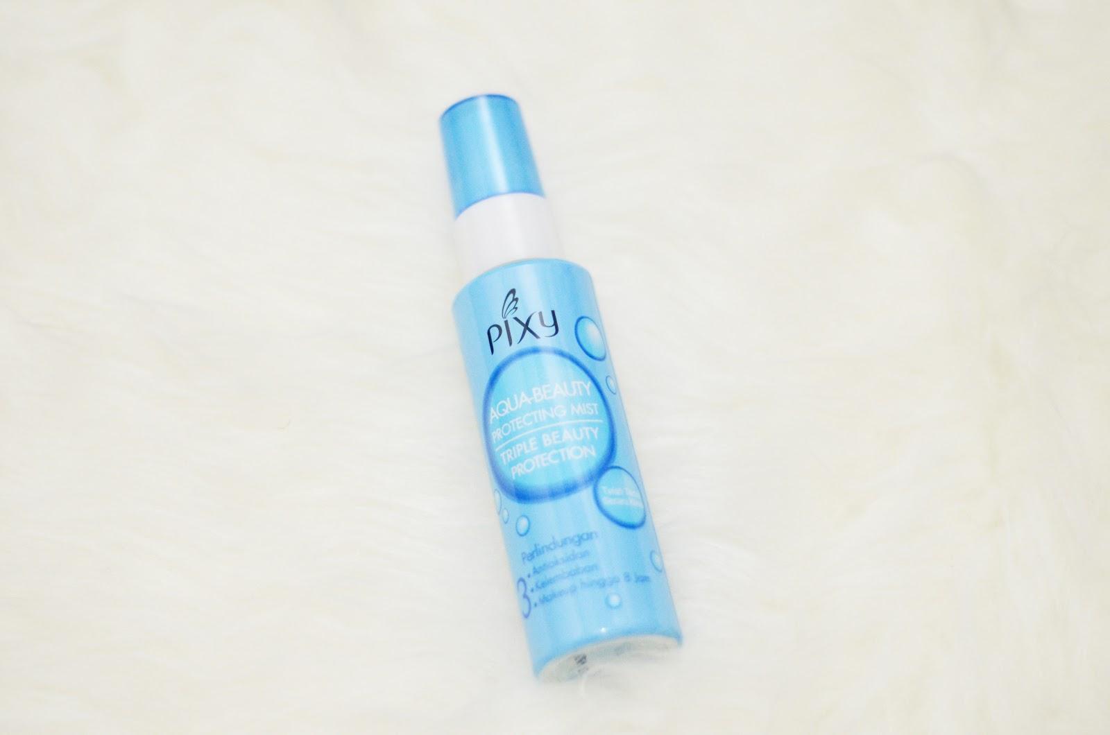 Pixy Aqua White Series Review Magellanictivity Beauty Protecting Mist Spray 60 Ml Makeup Menjadi Cepat Luntur Karena Keringan Dan Minyak Berlebih