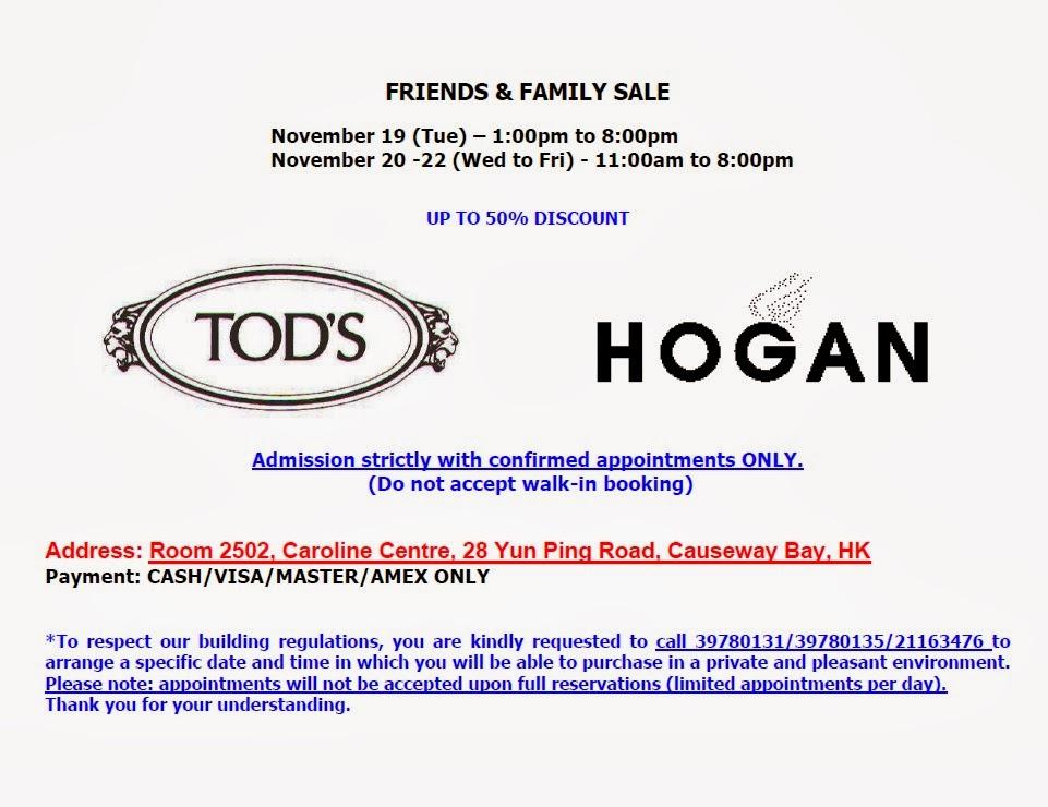 441356eea Hong Kong Fashion Geek  TOD S and Hogan Friends and Family Sale