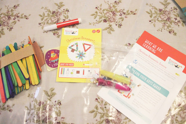 toucan box christmas craft contents