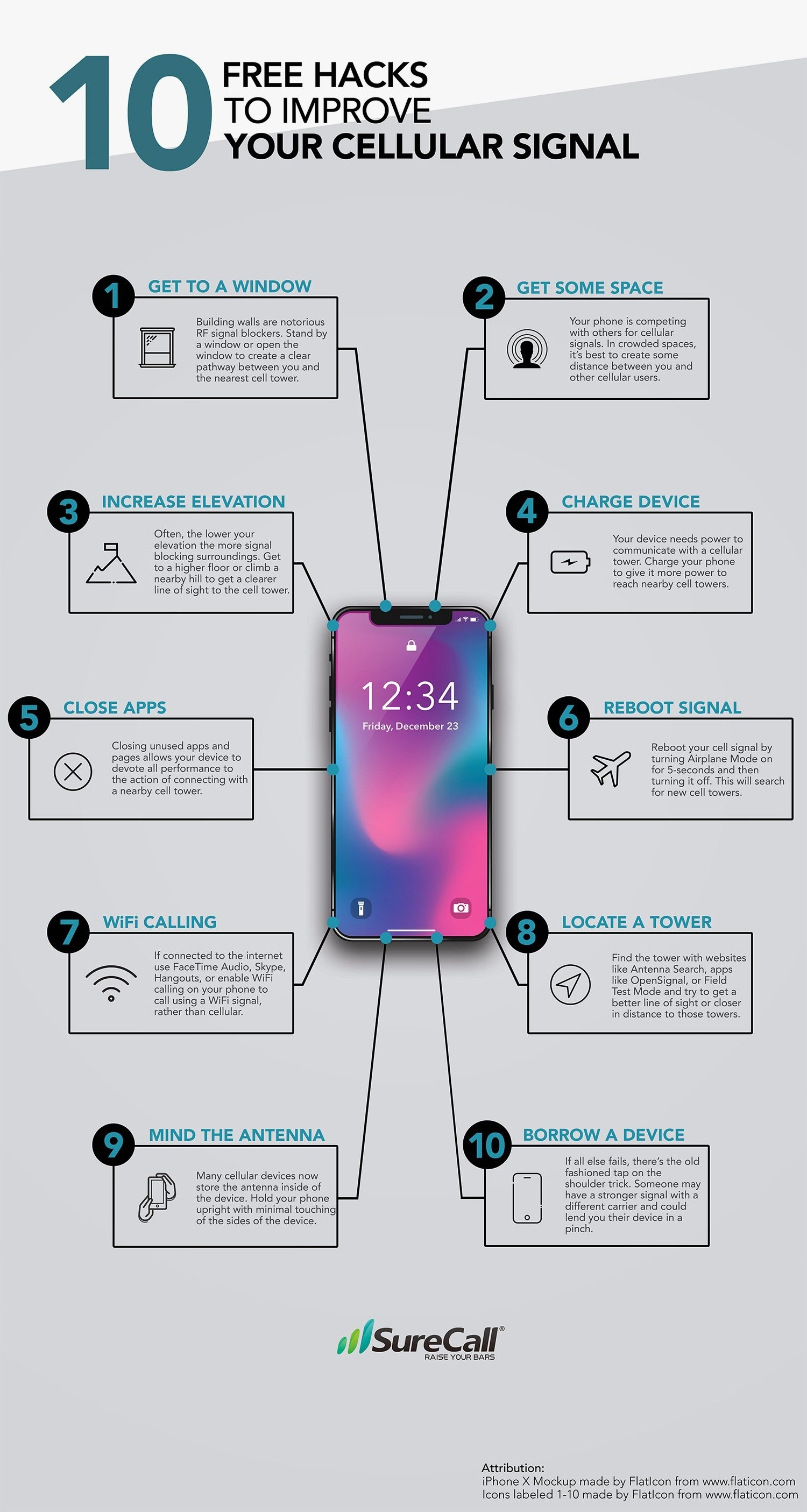 10 Free Hacks for Improving Your Cell Signal - #infographic