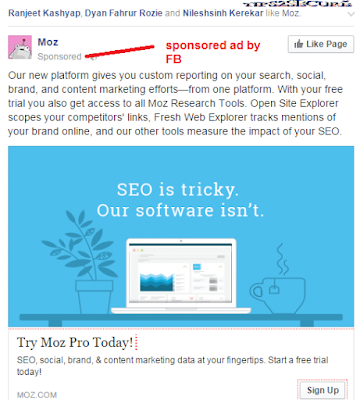 Facebook ads in SEM - search engine marketing