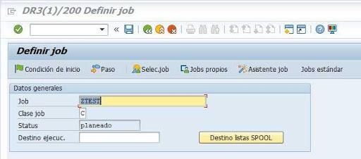 Transacción SM36 SAP