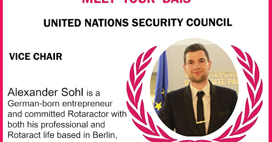 Meet your UN Security Council Vice-Chair, Alexander Sohl.