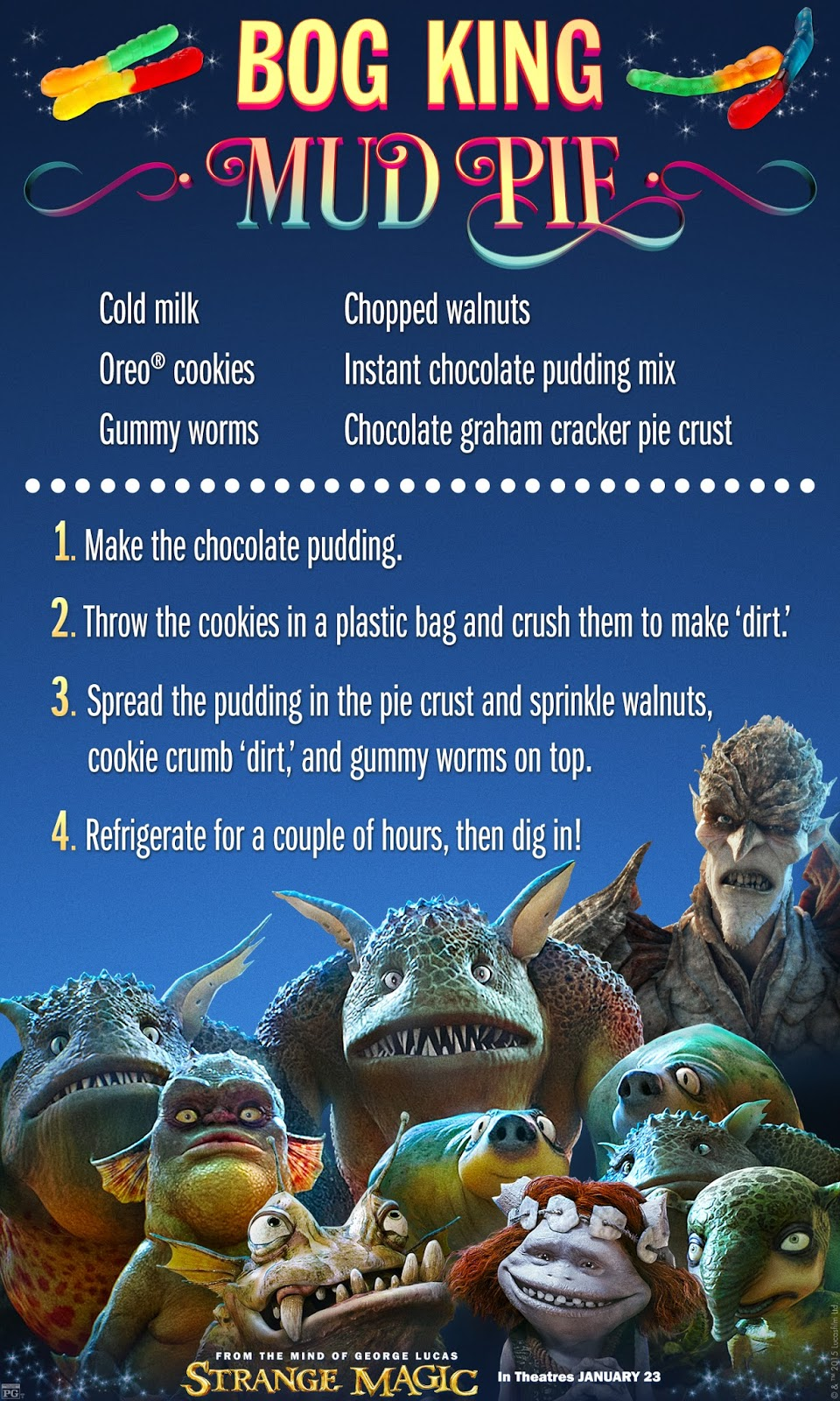 """Strange Magic"" Bog King Mud Pie Recipe Card"